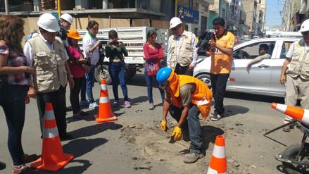 Califican de improvisados los trabajos de rehabilitación de calles en Chiclayo