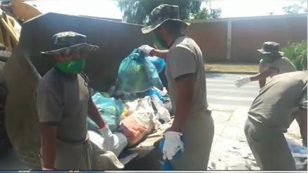 Soldados se suman a la campaña de limpieza de Trujillo