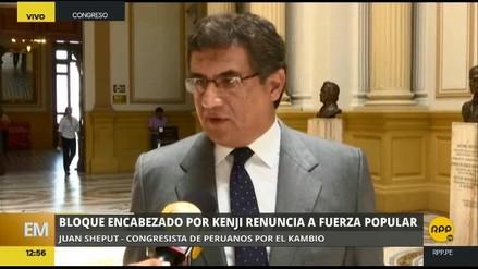 "Juan Sheput: ""Hoy ha nacido la bancada de Alberto Fujimori"""