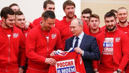 Putin a atletas rusos: