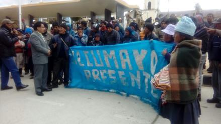 Agricultores de papa de Ulcumayo llegan a Junín para sumarse a protesta
