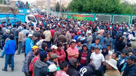 La Carretera Central continúa bloqueada por agricultores de papa en paro