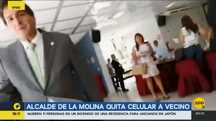 Alcalde de La Molina arrebató celular a vecino que grababa sesión del concejo