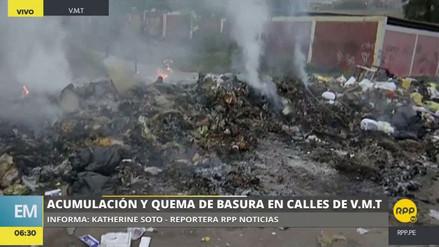 Vecinos de Villa María del Triunfo queman toneladas de basura ante la falta de recojo