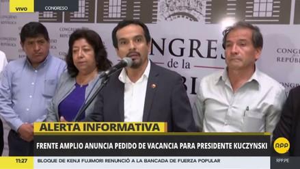 Frente Amplio anunció que presentará una nueva moción de vacancia presidencial