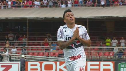 Christian Cueva anotó en triunfo del Sao Paulo y pidió perdón a los hinchas