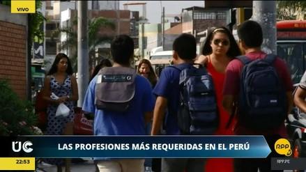 Las profesiones universitarias más requeridas en el Perú