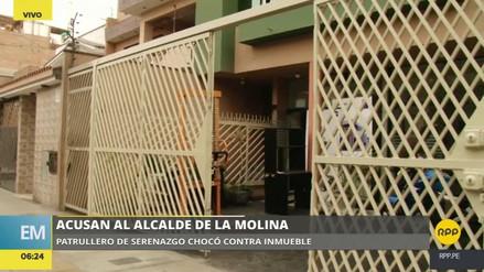 Un patrullero del Serenazgo de La Molina se estrelló contra el frontis de una empresa