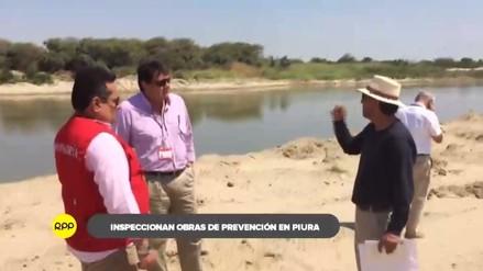 Contraloría inspeccionó obras de descolmatación en ríos de Piura
