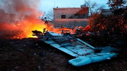 Un caza Sukhoi-25 ruso fue derribado por rebeldes al este de Siria