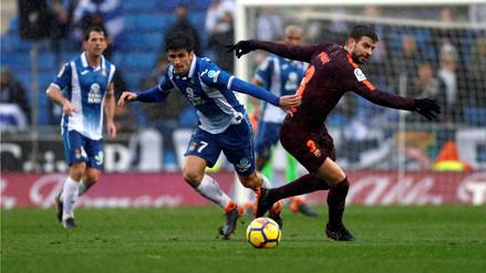 Barcelona empató 1-1 de visita al Espanyol en el derbi catalán