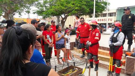 Expoconvocatoria de postulantes a Bomberos 2018 en Monsefú tuvo gran acogida