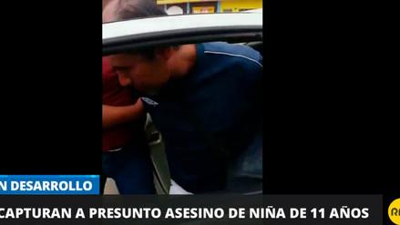 Video | Así fue la captura del presunto asesino de la menor de 11 años