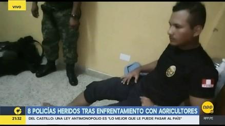 Ocho policías heridos tras enfrentamiento con productores de papa en Huánuco