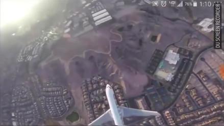 Video | El temerario vuelo de un drone que pudo causar un accidente en Las Vegas