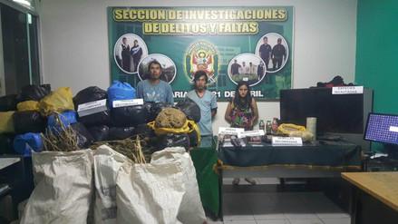 Incautan 103 kilos de marihuana a punto de ser distribuida en Áncash