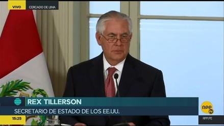 Tillerson destacó el papel de Perú en la crisis venezolana