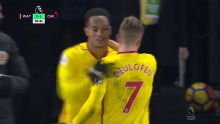 André Carrillo jugó pocos minutos en triunfo del Watford sobre el Chelsea
