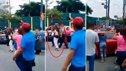 Agricultores de Huánuco abuchearon a la congresista fujimorista Karina Beteta