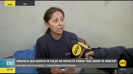 Ciudadana boliviana denuncia que agencia no devuelve dinero tras orden de Indecopi