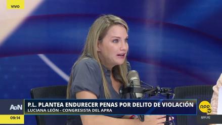 Luciana León exigió el incremento de penas para violadores
