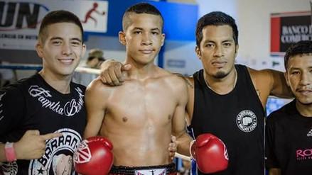 Piero Pineda con 15 años viajará a Tailandia a competir en el Mundial de Muay Thai