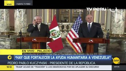 """PPK a Rex Tillerson: """"El TLC que se negoció hace 10 años ha dado muy buenos frutos para ambos países"""""""