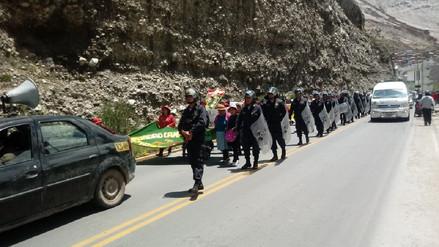 La Oroya: comuneros marcharon por la Carretera Central
