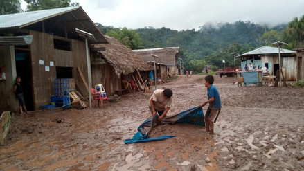 Bagua: 40 familias afectadas por desborde de quebrada Kusú