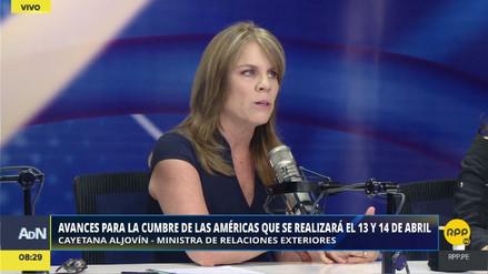 """Aljovín: """"Tillerson nos comentó sobre posibles sanciones a Venezuela que piensan ejecutar"""""""