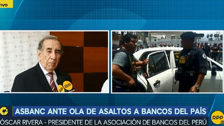 Asbanc cree que una misma banda está detrás de robos a bancos