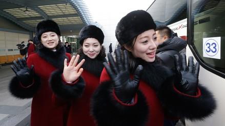 Corea del Norte envió más animadoras que atletas a los Juegos Olímpicos de Invierno
