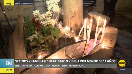 Familiares y vecinos realizaron una vigilia por la niña asesinada en San Juan de Lurigancho