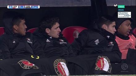 La reacción de Renato Tapia al ser suplente en el Feyenoord