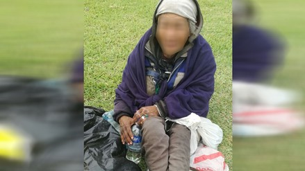 Inabif ayudó a señora que estaba en situación de abandono en la Panamericana Sur