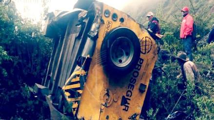 Cuatro muertos tras caída de camioneta de Prosegur a abismo en Pataz