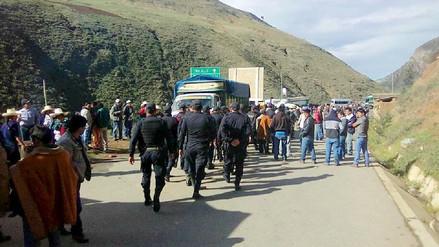 Se restablece el tránsito vehicular en Otuzco tras paro agrario