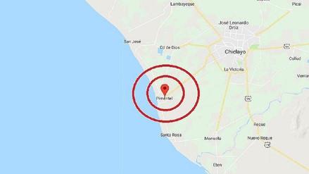 Sismo de magnitud 4.1 se registró en distrito de Pimentel
