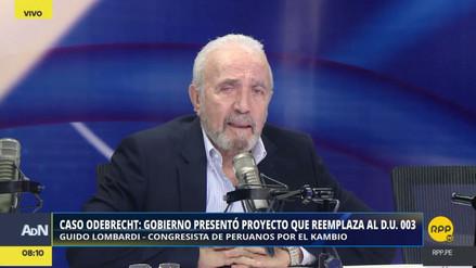 """Guido Lombardi sobre Luis Galarreta: """"Parece seguir en su papel de vocero de Fuerza Popular"""""""