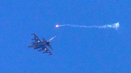 Un caza F-16 israelí fue derribado tras un ataque desde Siria