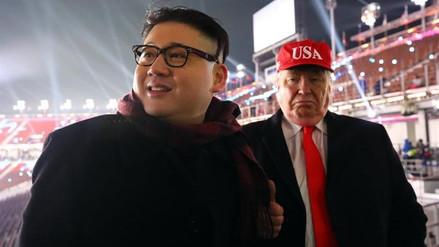 Los dobles de Donald Trump y Kim Jong-un se robaron el show en la inauguración de Pyeongchang 2018