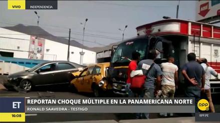 Al menos 6 heridos dejó un choque múltiple en la Panamericana Norte