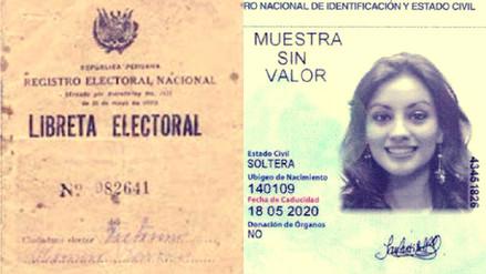 Fotos | La evolución de la libreta electoral al DNI electrónico