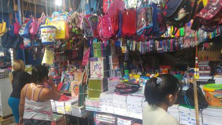Chiclayo: baja demanda en la compra de útiles escolares