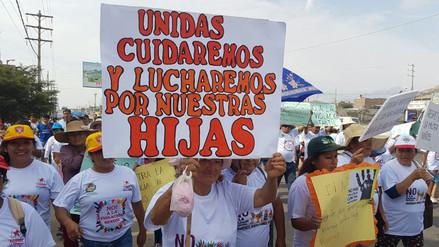 Cientos de personas marchan contra la violencia sexual en distrito de La Esperanza