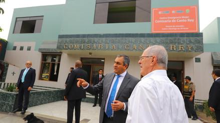 PPK realizó visita sorpresa a la Comisaría de Canto Rey en San Juan de Lurigancho