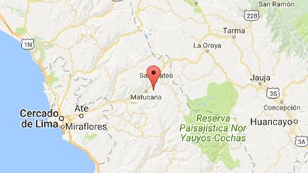 Un sismo de magnitud 3.6 se registró en Tamboraque esta noche