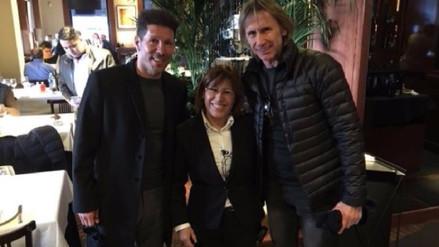 Ricardo Gareca se reunió con Diego Simeone en España