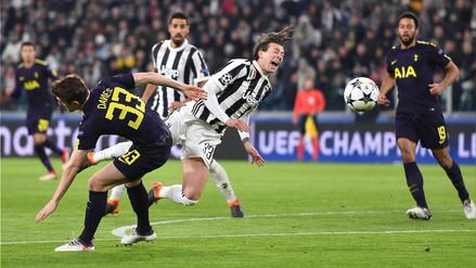 Juventus empató 2-2 ante Tottenham y dejó la llave abierta en Champions