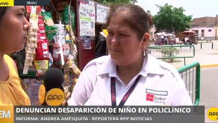 Madre denunció la desaparición de su hijo de 11 años en un policlínico del Rímac